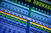 Banco mixer audio professionale a lui conc — Foto Stock