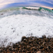 Stock Photo: Beach shot fisheye