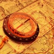 Royalty-Free Stock Photo: Travel compass on the map