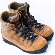 Used hiking boots - Stock Photo
