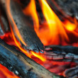 Stock Photo: Burning wood
