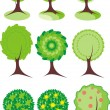 Stockvector : Trees