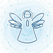 christmas angel — Stock Vector