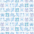Collection of the snowflakes — 图库矢量图片