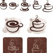 Coffee and chocolate — Vector de stock