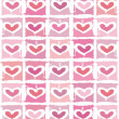 Vector valentine background with heart — Stock Vector #1822652
