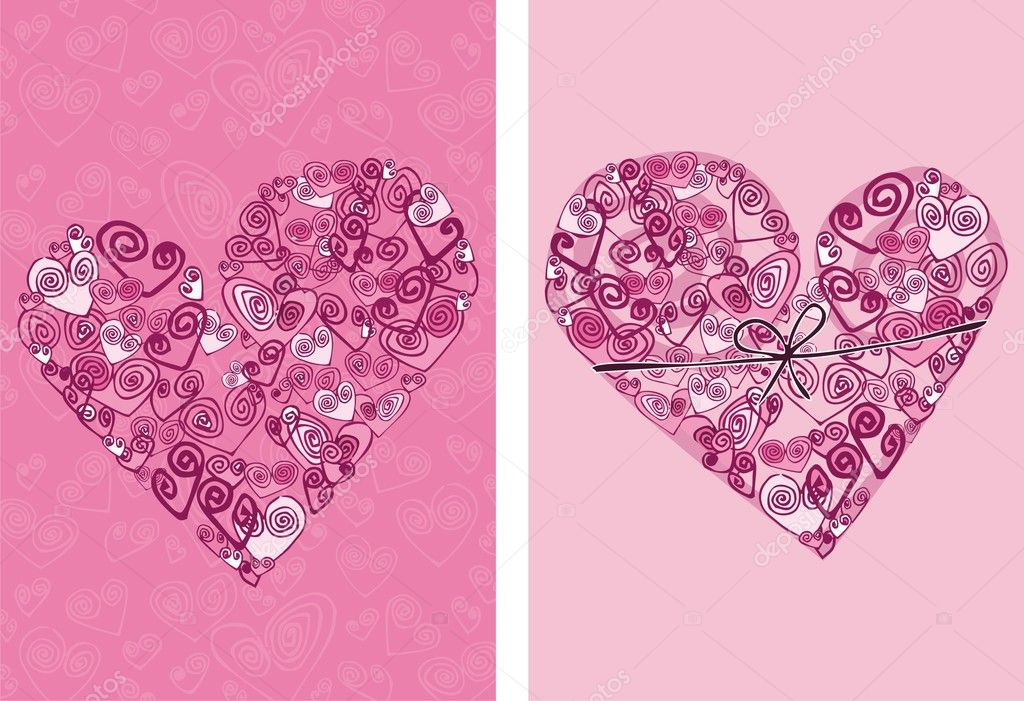 Vector valentine background with heart — Stock Vector #1822210