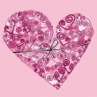 Vector valentine background with heart — Stock Photo