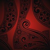 Red- black background with the ornament — Stock Photo