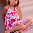 Little girl in a bright dress — Stock Photo #1858696