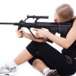 Girl with a weapon 3 — Stock Photo