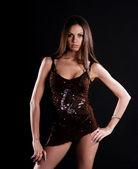 Sexy brunetka w bieliźnie — Zdjęcie stockowe