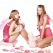 Stock Photo: Pink angels