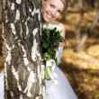 Bride in a park — Stock Photo #1901686