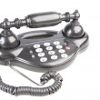 Push-button telephone in retrostyle. - Stock Photo