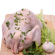 Crude chicken - Stock Photo