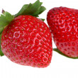Two berries of strawberry — Foto Stock