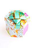 Beautiful gift box on white — Stock Photo