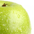 Big green apple — Stock Photo