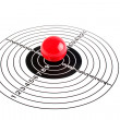 Stock Photo: Target with red ball