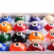 Set of billiard ball — Stock Photo