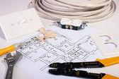 Elektryczne narzędzia — Zdjęcie stockowe
