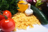 Vermicelli and vegetables — Stock Photo