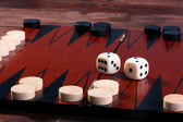 Set for game in a backgammon — Stock Photo