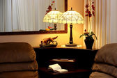 Interior of the house with a lamp — Stock Photo