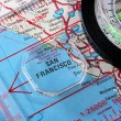 Map San Francisco — Stock Photo