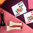 Chess and cards - Stock Photo