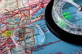 Map Philadelphia — Stock Photo
