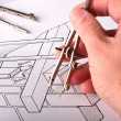 Tool over the drawing — Stock Photo #1922273