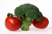 Broccoli e pomodori — Foto Stock