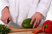 Cook cuts — Stock Photo