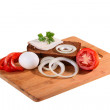 Components for sandwich - Stock Photo