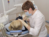 Na odbiór stomatologist. — Zdjęcie stockowe