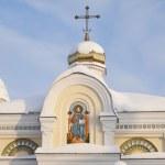 Piously-Nikolaev man's monastery — Stock Photo