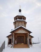 Dřevěný kostel. — Stock fotografie