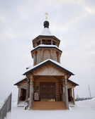 A igreja de madeira. — Foto Stock