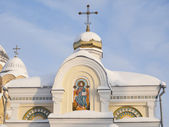 Piously-Nikolaev man's monastery — Stock Photo