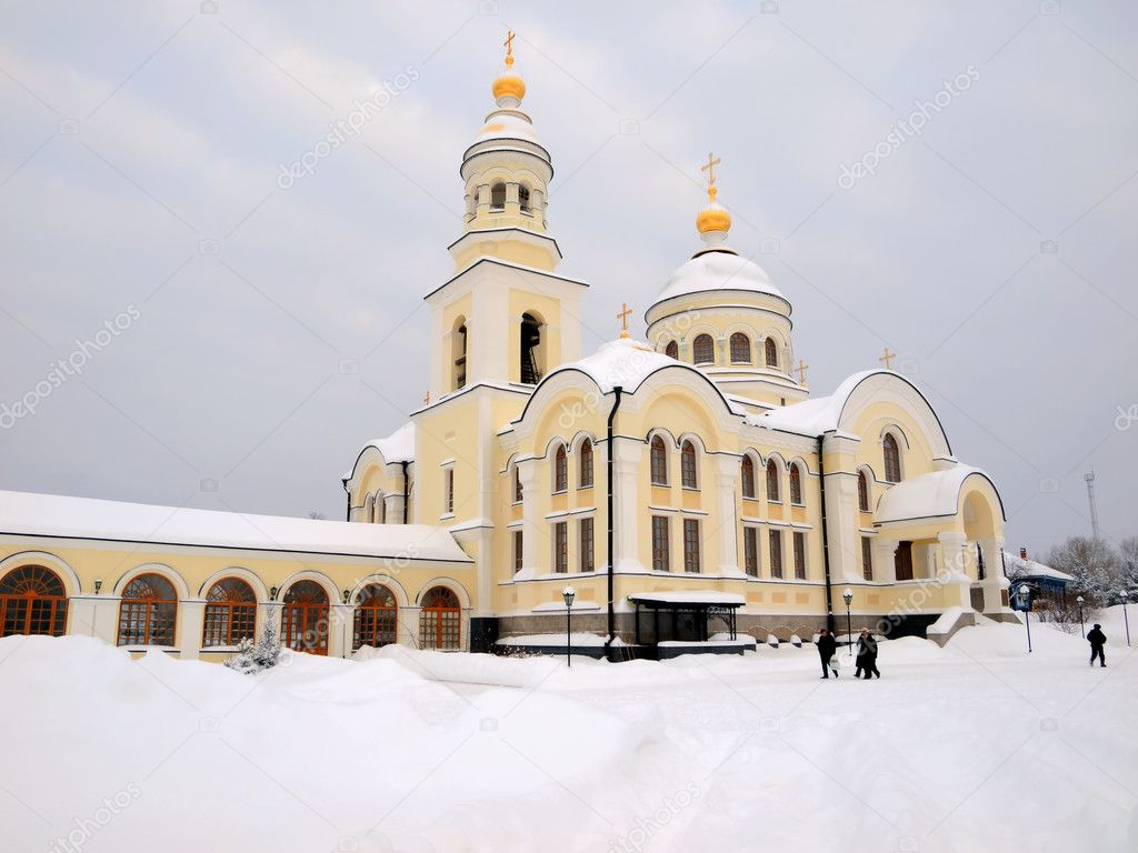 The Novo-Tikhvin female monastery. Village Merkushino. Sverdlovsk area. — Foto de Stock   #1585359