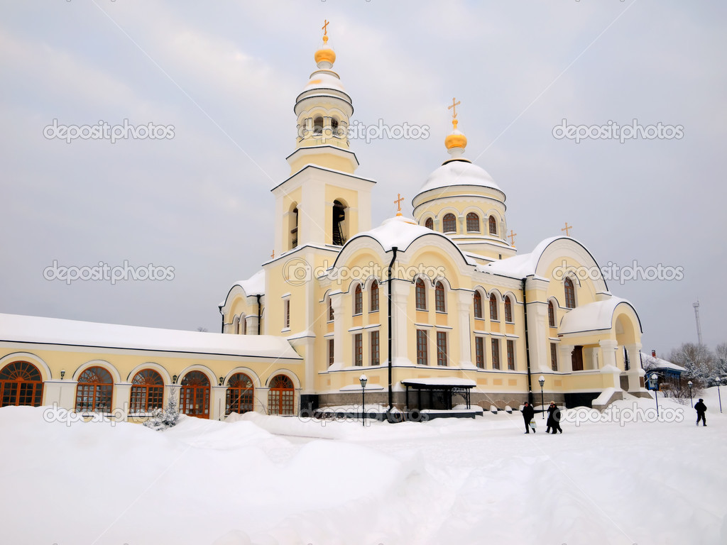 The Novo-Tikhvin female monastery. Village Merkushino. Sverdlovsk area. — Stockfoto #1585359