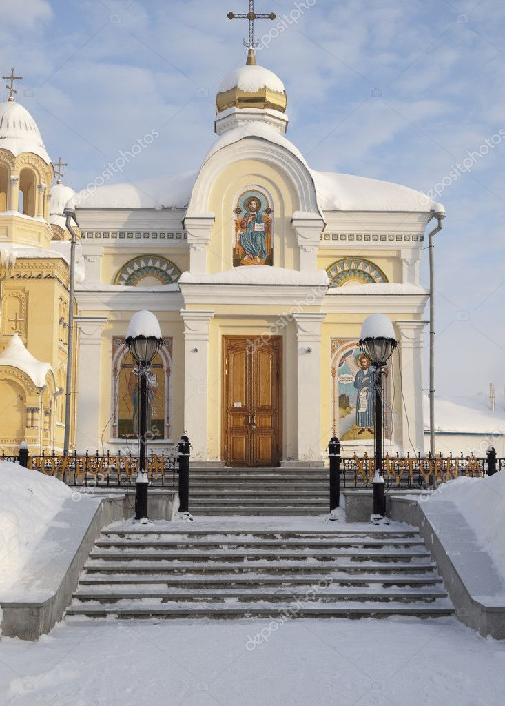 The Piously-Nikolaev man's monastery. The city of Verhoture. Sverdlovsk area.  Stock Photo #1585460