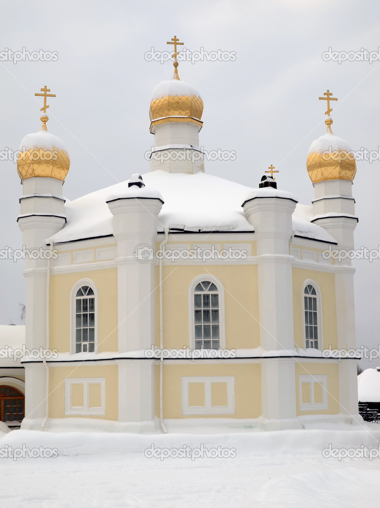 The Novo-Tikhvin female monastery. Village Merkushino. Sverdlovsk area. — Stock Photo #1586364