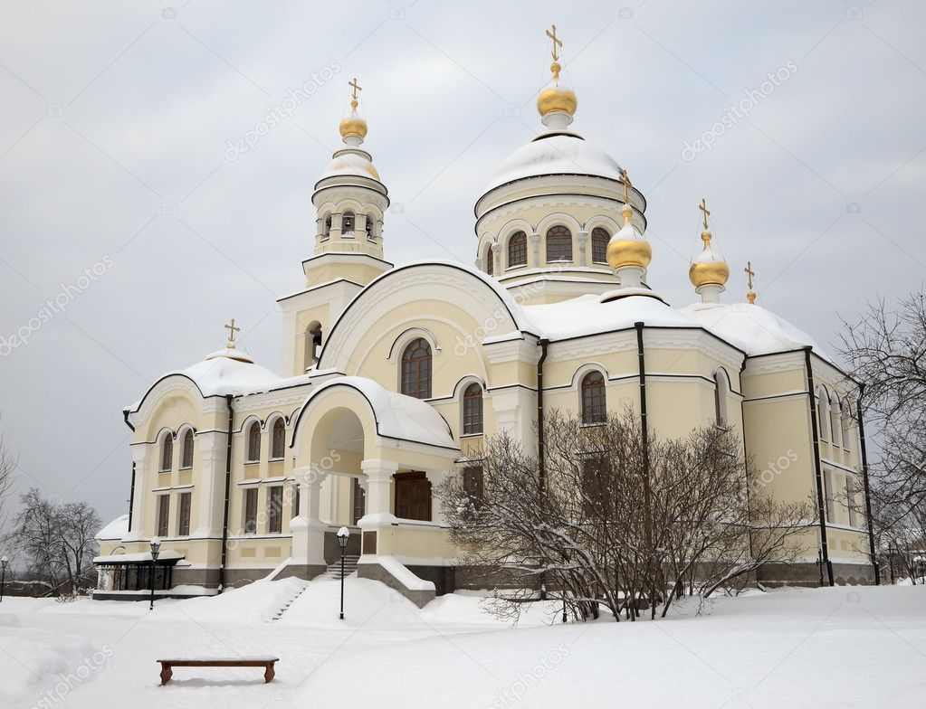 The Novo-Tikhvin female monastery. Village Merkushino. Sverdlovsk area. — Stock Photo #1586427