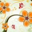 Royalty-Free Stock Vector Image: Floral background.