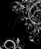 花の抽象的なフレーム. — ストックベクタ