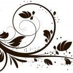 elemento di disegno astratto floreale — Vettoriale Stock