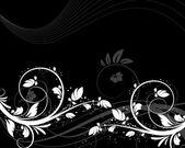 Цветочный абстрактный фон — Cтоковый вектор